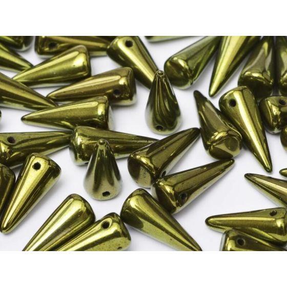 Spikes Jet Red Luster 7 x 17 mm 10 St. online günstig kaufen und im Perlenshop sicher bestellen. 2,48€
